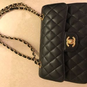 Chanel Classic Caviar small with GHW